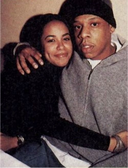 Aaliyah & Jay-Z...before she was killed & he made Beyoncé his Queen.