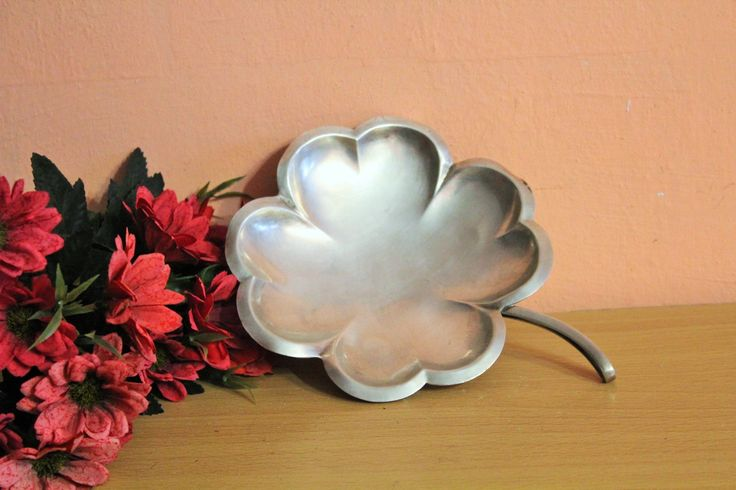 Vintage Silver Plated Soviet Plate Clover Leaf Shape, Made in USSR, Russian Metal Dish, Table Centerpiece, Candy Nut Serving, Trinket Dish by Grandchildattic on Etsy