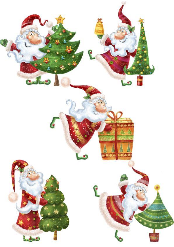 Деды Морозы (Рисунки и иллюстрации) - фри-лансер Анастасия Бобко [Berdsley].