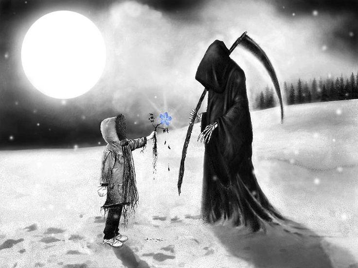 "Life asked death,  ""Death, Why do people love me but hate you?""  Death Responded,  ""Because you are a beautiful lie and I am the painful truth""    The best gift in life is life itself, don't let it wilt away like a flower, embrace it. -La vida le pregunto a la muerte, ""Muerte, ¿Por qué la gente me quiere, pero me odian?"" Muerte respondió: ""Porque eres una hermosa mentira y yo soy la dolorosa verdad"". El mejor regalo en la vida es la vida misma, no dejes que se marchite como la flor."