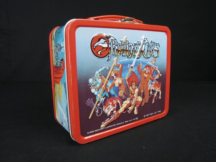 """#MuseumCats Day wouldn't be complete without this 1985 metal lunch box from our collections. The television series """"Thundercats,"""" which aired from 1985 to 1987, mixed the genres of fantasy, science fiction, and mythology. Did you ever watch it?"""
