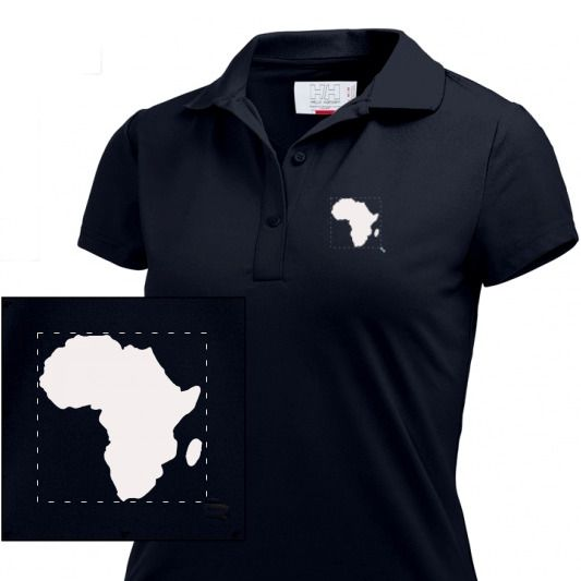 Oldschool Lady / Girl Polo Africa   black