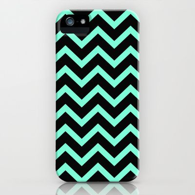 Minty Chevron Phone Case