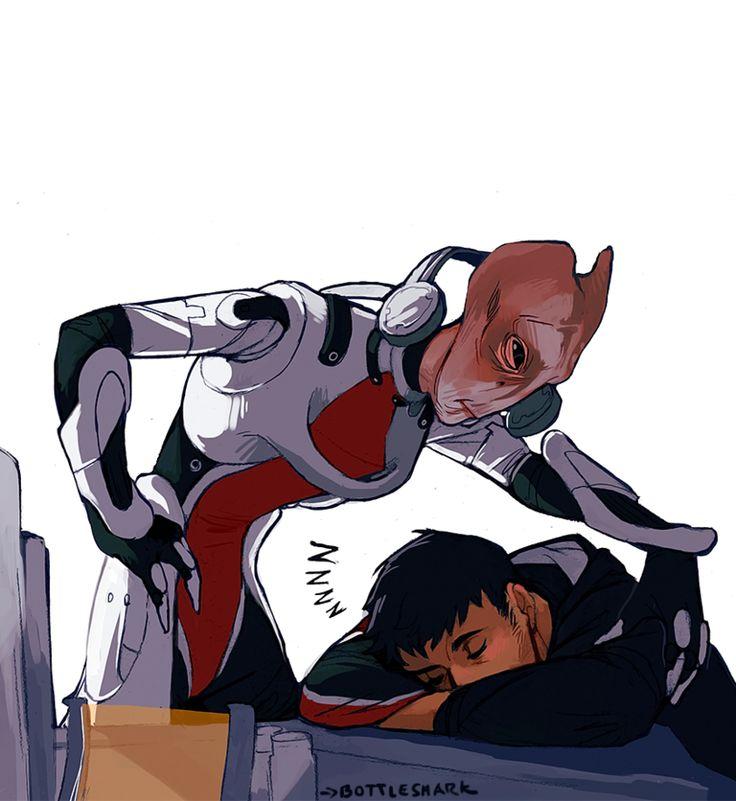 Mass Effect,фэндомы,ME art,Nordin,Shepard,Mordin