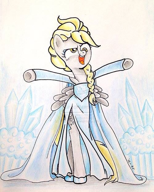 Frozen~Elsa as a pony OMG!!! i LUV this!! She is soo cute !!