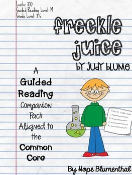 Freckle Juice is such a fun book by author Judy Blume. Although it is a short text, there are a lot of good reading skills that can be pulled out of it! And the students love reading it as well, especially when Andrew draws blue freckles on his face!
