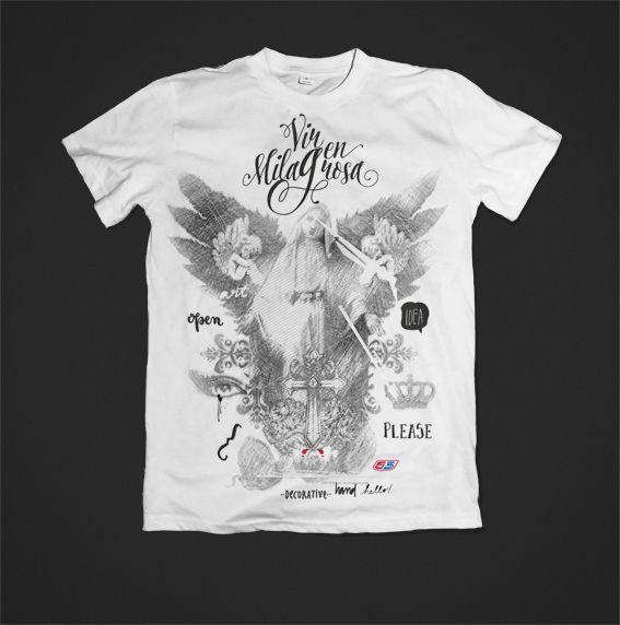 camiseta virgen milagrosa