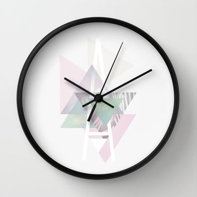 """A"" geometric universe Wall Clock by Tina hasboeg | Society6"