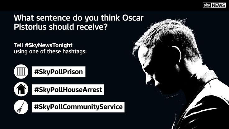 #SkyNewsTonight poll: What sentence do you think Oscar Pistorius should receive? Tweet us a hashtag from this image: