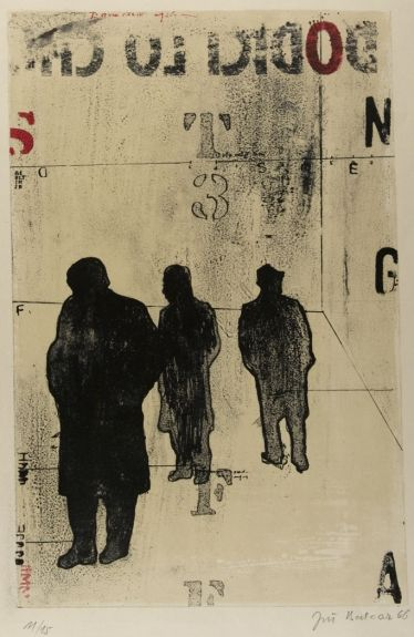 Jiri Balcar, A Situation Difficult to Describe I, Lithograph,