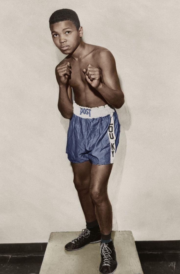 Muhammad Ali. (Colorized Photo).
