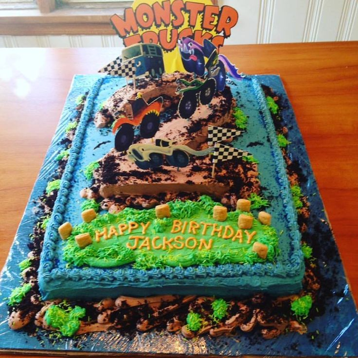 This AMAZING cake was made by my good friend, children's book author Lindsay Ward for her son's birthday! He loves the book, and wanted a Monster Trucks-themed birthday party. (photo creds to Lindsay)