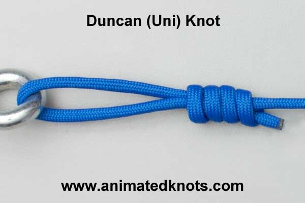 Duncan uni knot how to tie a duncan uni knot for Tying fishing knots
