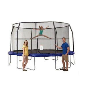 Fabulous Buy JumpKing Trampoline and Safety Net Enclosure Combo Blue JKVC