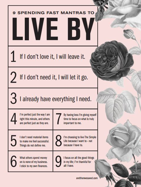 9 Spending Mantras to Live By / And Then We Saved.com