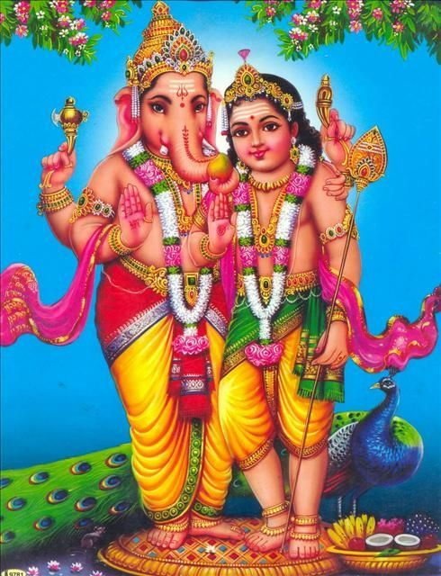 Skykishrain - Lord Ganesha And his brother Subramanya swamy