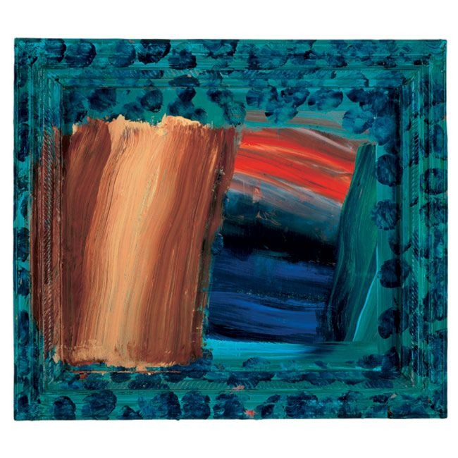howard hodgkin -moonlight, 1998 - 1999, oil on wood.