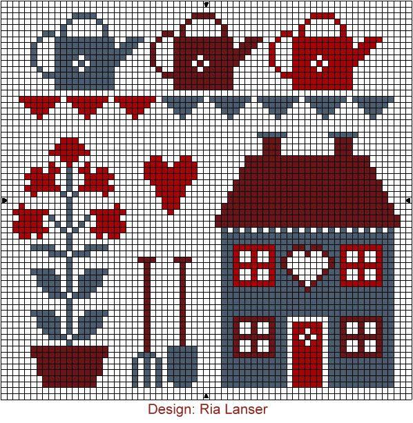Design: Ria Lanser cross-stitch - free