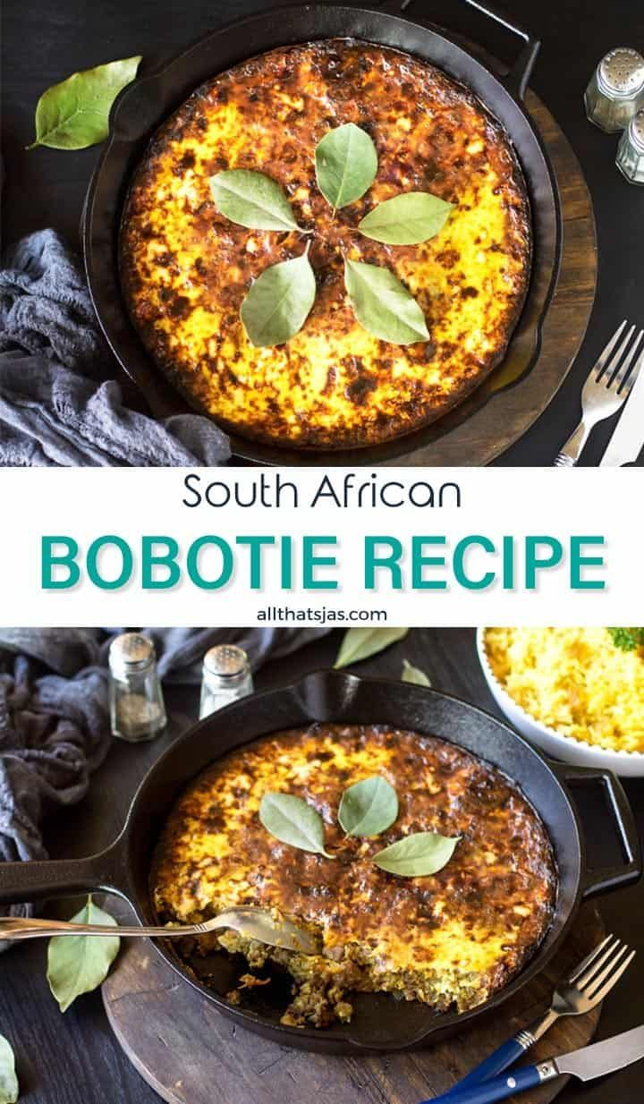 South African One Pan Bobotie Casserole Bobotie Recipe South African Bobotie Recipe Recipes