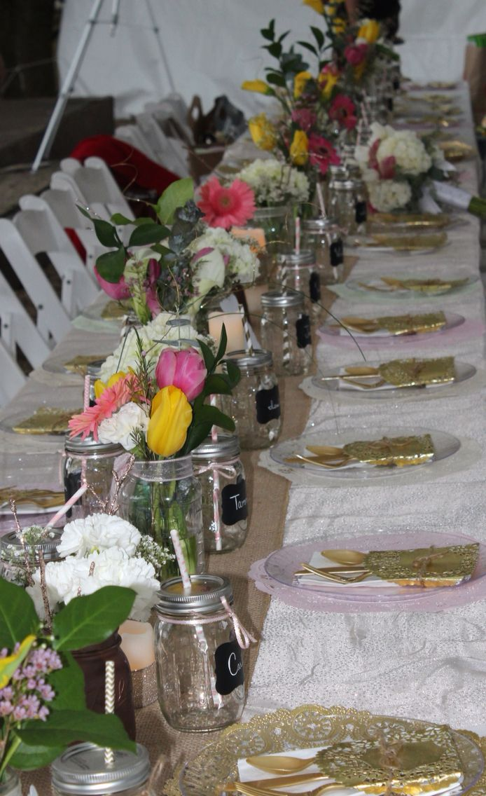 Table setting for our vintage wedding