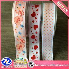wholesale Cheap decorative printed ribbon / printed grosgrain ribbon /custom printed ribbon
