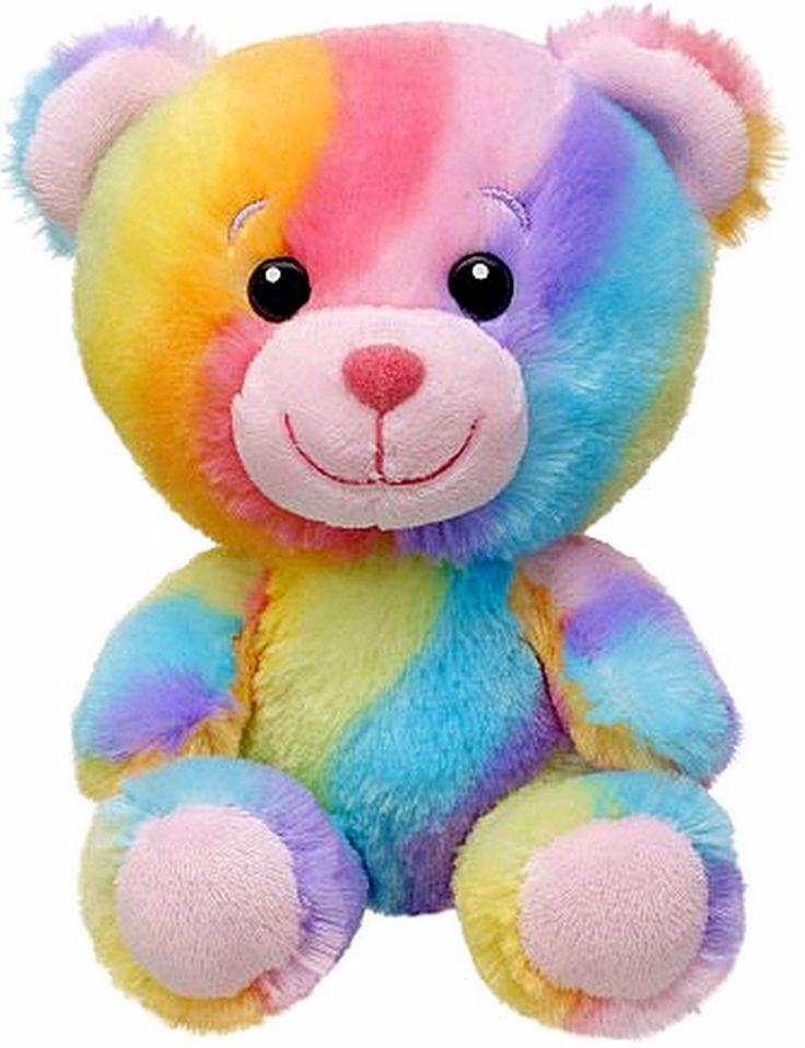 New Build A Bear Colorful Rainbow Hugs Baby Buddies Teddy