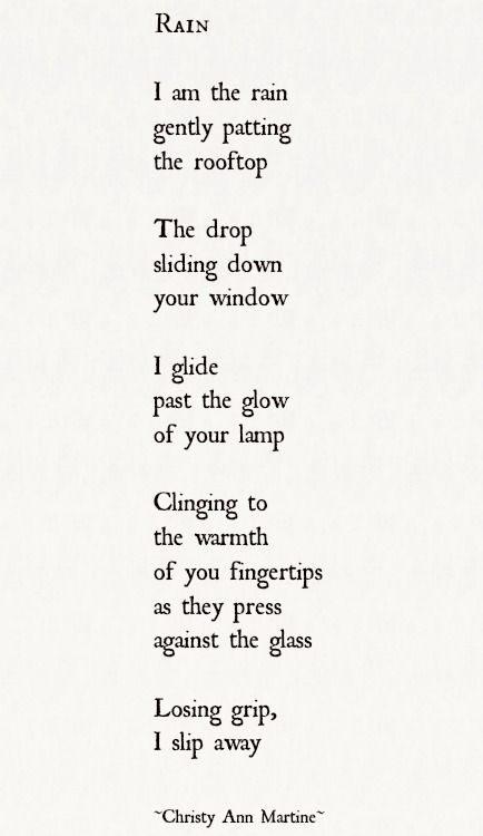 Rain poetry poems published poems poem sayings quotes sad poetry poets poetic verse - lonely raindrop - art words writing Christy Ann Martine  #poems