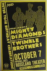 Mighty Diamonds Portland Reggae Concert Poster