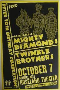 Mighty Diamonds Portland Reggae Concert Poster