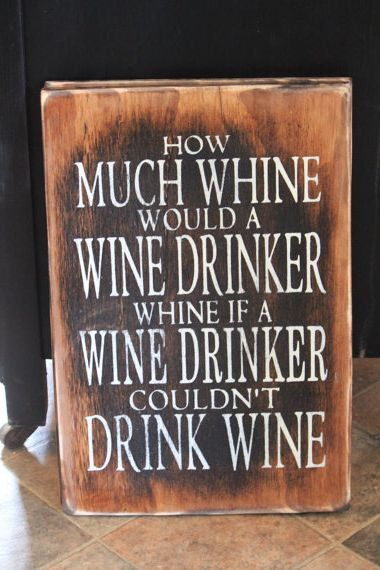 humourous wine sign perfect gift for a by CouldCHuckWoodDesign, $40.33