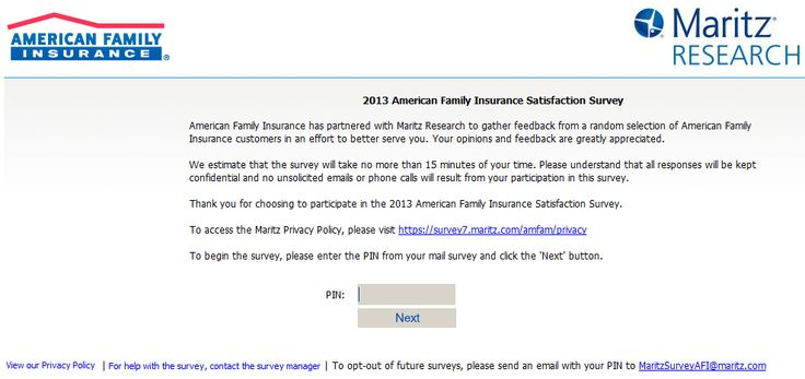 American Family Insurance Satisfaction Survey WwwAmfamCom