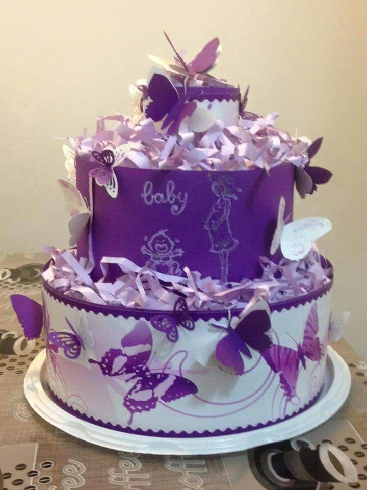 Farfalline viola e bianche !