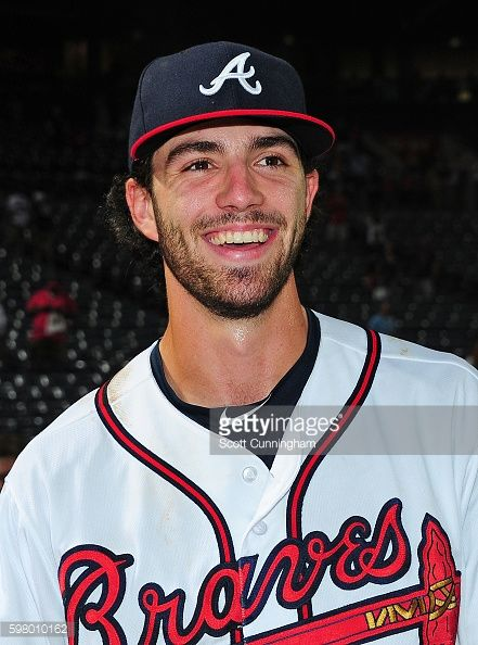 News Photo : Dansby Swanson of the Atlanta Braves is...