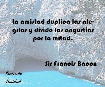 Frases de amistad para whatsapp de Sir Francis Bacon