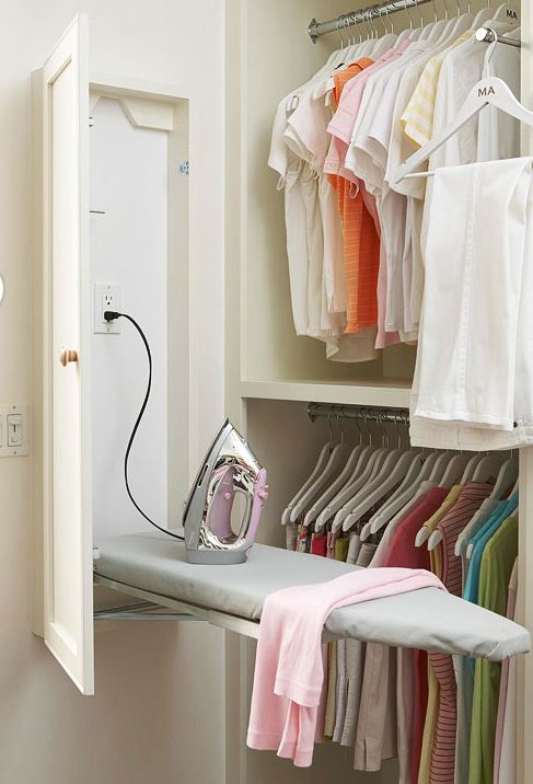 An Ironing Board In The Closet!