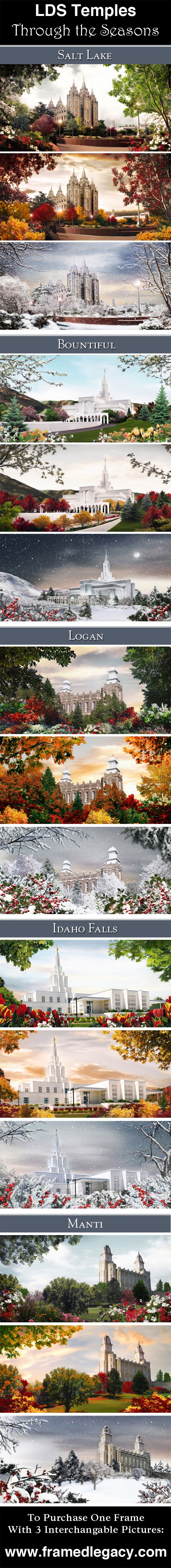 LDS Temples through the seasons by Brent Borup