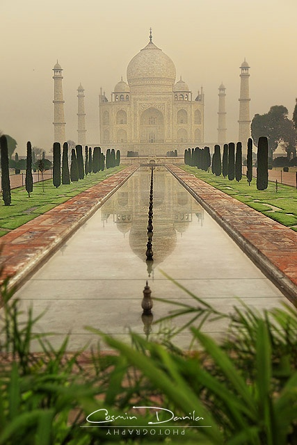 Taj Mahal, India. A beautiful place for a even more beautiful story. Somewhere to visit with the person you love.