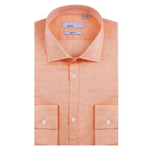 Chemise cintrée CRISTIANO orange   http://www.atelierprive.com/fr/nouveautes-mode-homme/3539-chemise-cintree-cristiano-orange.html