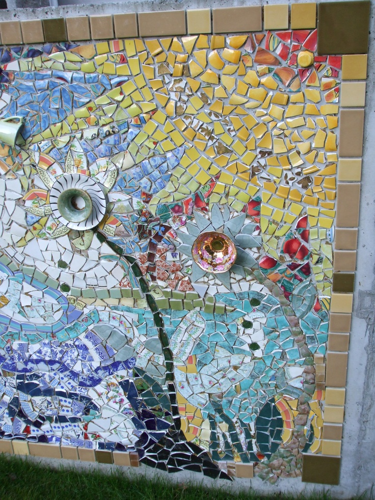 71 Best Mosaic For Garden Wall Images On Pinterest