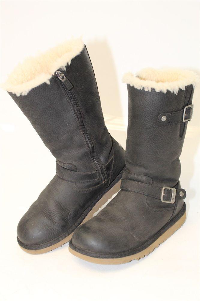 f64d105c62d6 UGG Australia Uggs 1969 Kensington Kids Girls 5 35 Leather Sheepskin Boots  dqw  fashion