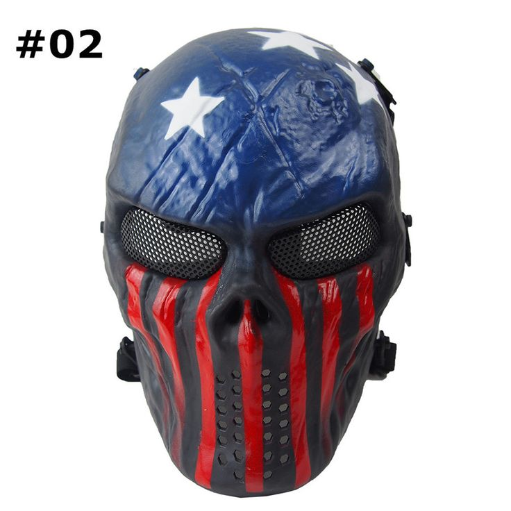 Painted Tactical Mask - Paintball Airsoft Full Face Mask -