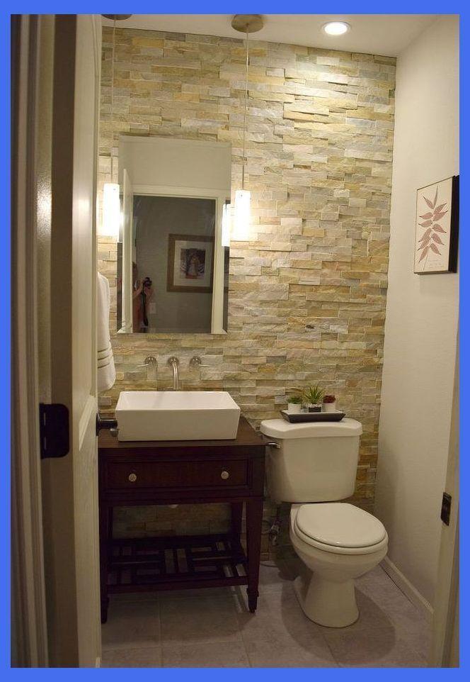 Half Bath Renovation Rock Bathroom Ideas Master Bathrooms Rock Bathroom Id Bath Bathroom Bathro In 2020 Half Bathroom Half Bath Remodel Small Half Bathrooms
