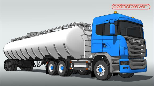 Scania R730 Tanker 6 Axis Proper 3d Warehouse Proper How To Have Twins Fuel Economy