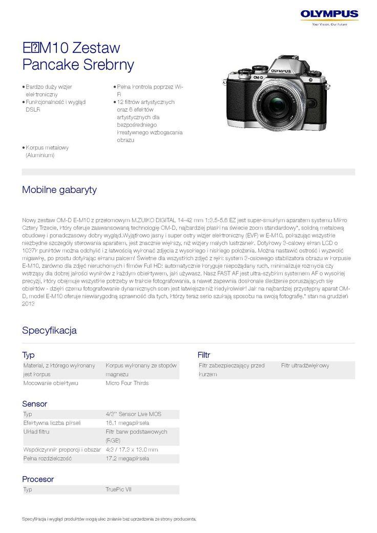 Olympus OM-D E-M10 - specyfikacja 1/9