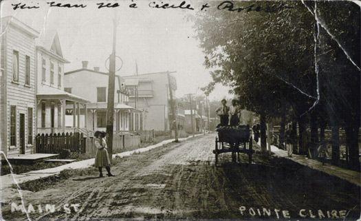 La rue principale du village de Pointe-Claire