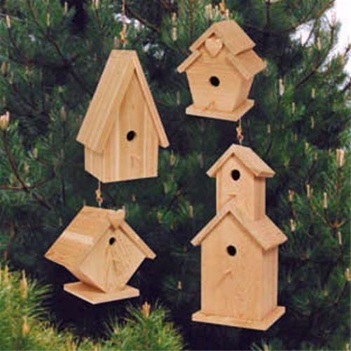 DIY Woodworking Ideas Birdhouse Village Plan