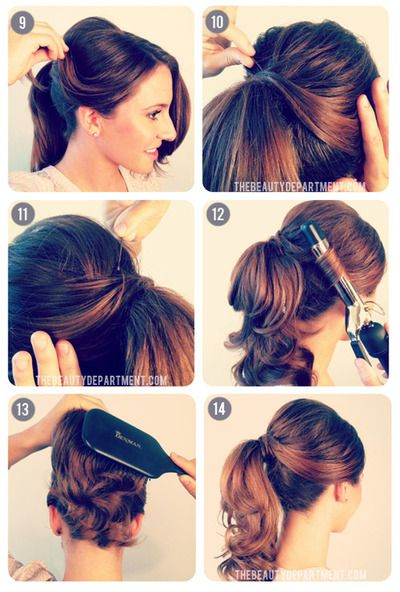 A twist on the classic pony tail part 2Ponytail Tutorial, Hairstyles, Vintage Ponytail, Makeup, Beautiful, Hair Style, Pony Tails, 1950, Ponies Tail