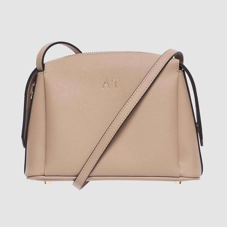 Taupe Structured Cross Body Bag  - PREORDER