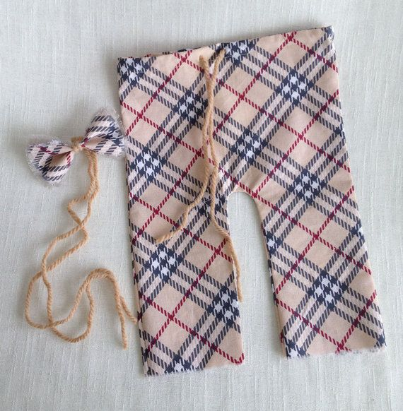 Newborn Set Newborn Pants & Bowtie Newborn Boy by SquishyBabyStuff, $21.00