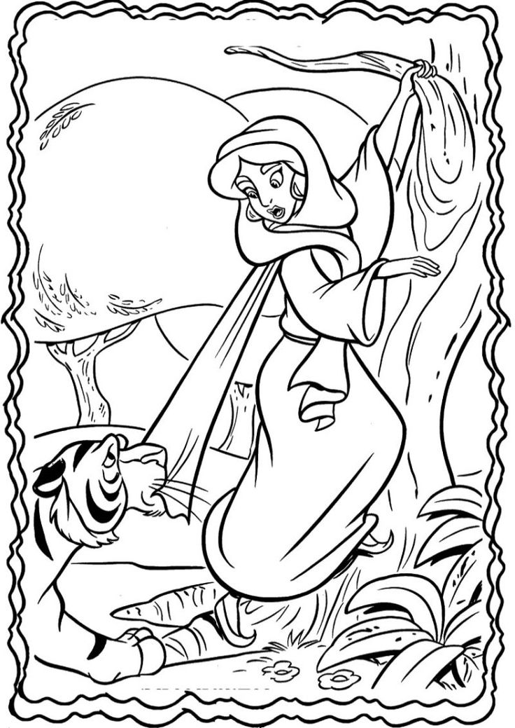 17 Best images about Aladdin coloring sheets on Pinterest